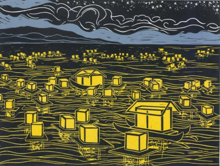 """Floating  Lanterns"" by Mimi Williams."