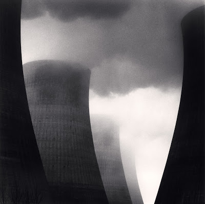 Michael Kenna, Ratcliffe Power Station, Study 40, Nottinghamshire, England, 2003. Sepia-toned gelatin silver print, 7 5/8 x 7 5/8 inches. Courtesy of the artist and G.Gibson Gallery, Seattle.