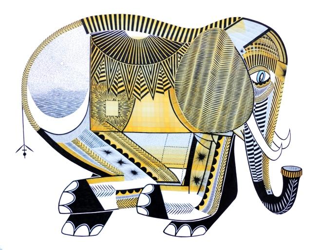 """Sun Elephant"" by Sean Alexander. Photo courtesy of the artist."