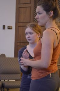Cherilynn Williams & Annie Katica Green in rehearsal for Bluebeard.