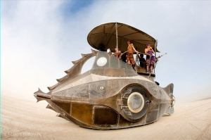 Sean Orlando's operable land submarine,The Nautilus: 2011, inspired by Jules Verne.