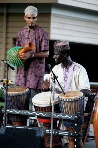 West African Drums in Old Town Park, part of the Classical Tuesdays in Old Town concert line-up. Photo by Jim Robbins.