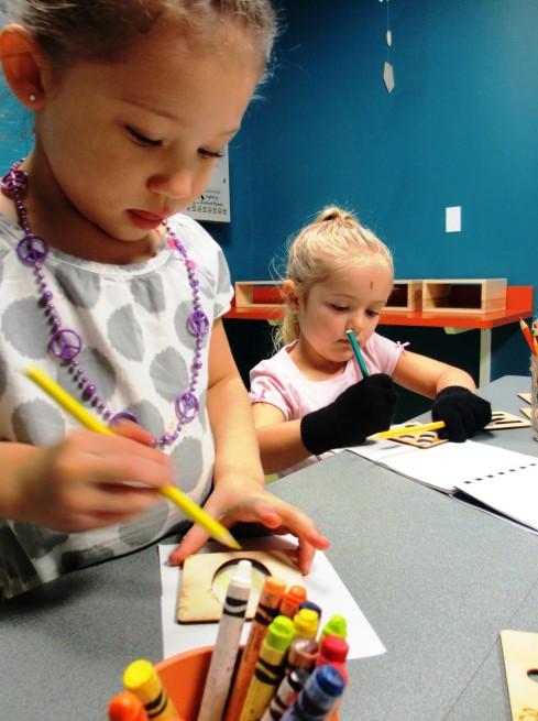 Visitors to the Children's Museum of Tacoma participate in Art Sparks hands-on programming. Photo courtesy of the Children's Museum of Tacoma.
