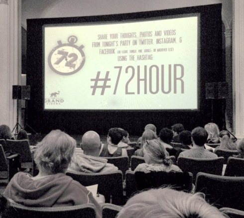 The Grand Cinema's 72 Hour Film Competition viewing party. Photo by Dane Gregory Meyer.