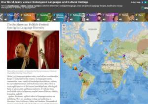 Endangered Languages and Cultural Heritage audio map.