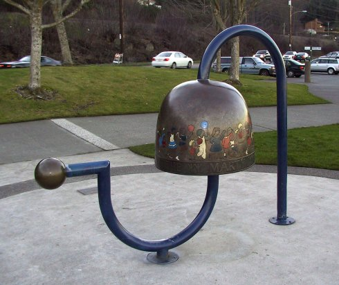 """Children's Bell"" sculpture by Larry Anderson"