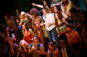 The cast of HAIR The Musical. Broadway Center for the Performing Arts. Photo Courtesy of Broadway Center.