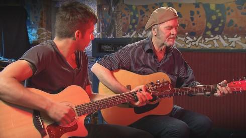 Guitarist-singer-songwriter Nolan Garrett and the legendary Jerry Miller.