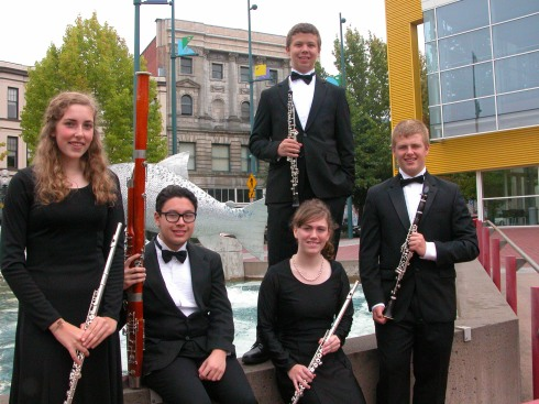 Tacoma Youth Symphony woodwind ensemble
