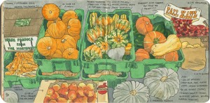 Fall Haul, sketchbook drawing by Chandler O'Leary. Photo provided by Chandler O'Leary.