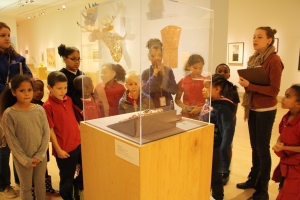 Students from Tacoma Art Museum's after school off-site outreach programs visit the museum to tour the galleries. Photo provided by Tacoma Art Museum.