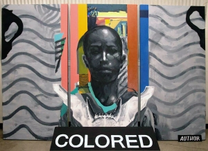 Acrylic painting by Christopher Jordan for COLORED Series. Photo provided by Christopher Jordan.