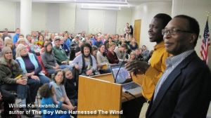William Kamkwamba, author of The Boy Who Harnessed The Wind, at Tacoma Public Library. Photo courtesy of TPL.