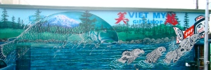 Viet My Gift Shop, 775 S. 38th Street. Lead artist: Bob Henry, assistant artists: Anthony Duenas and Daniel Duenas. 2014.