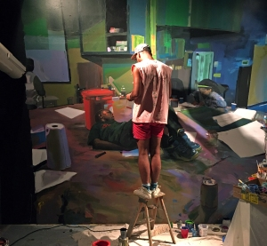 Christopher Paul Jordan in studio.