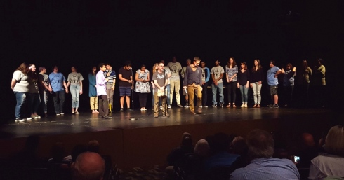 Arts Projects funding helps support Write253's Louder Than a Bomb teen poetry slam. Photo courtesy of Write253.