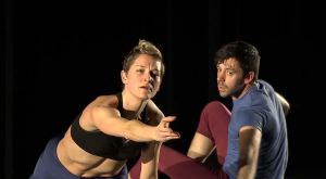 Dancers Kate Monthy and Joel Myers perform