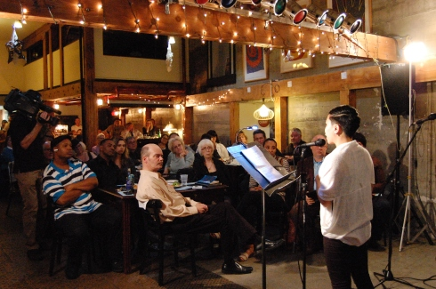 2015-2017 Tacoma Poet Laureate Cathy Nguyen performs at B Sharp.